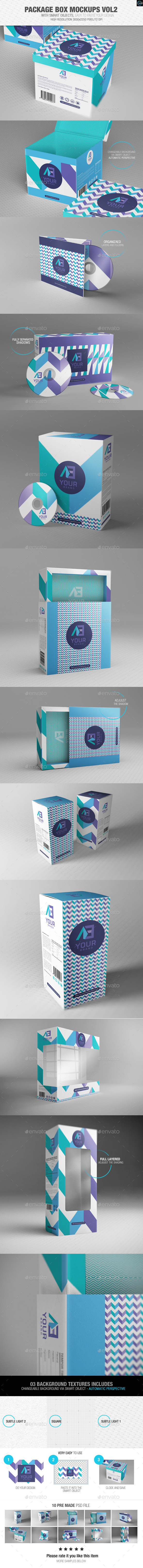 Package Box Mockups Vol2 - Packaging Product Mock-Ups