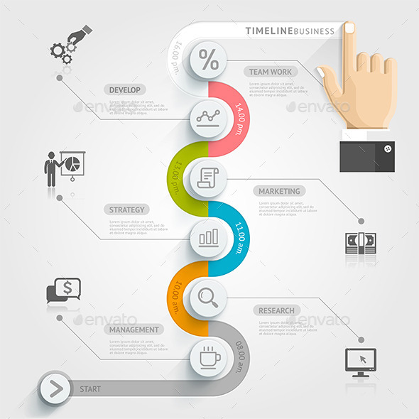 business timeline infographics by graphixmania graphicriver