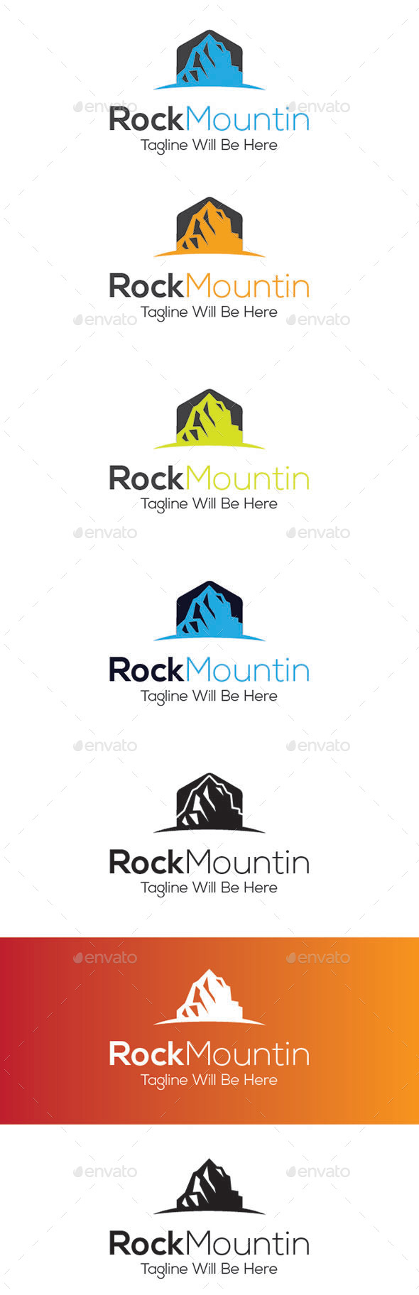 Rock Mountin Logo Design - Nature Logo Templates
