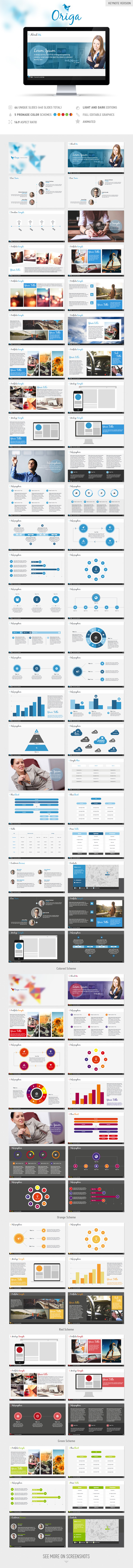 Origa Keynote Presentation Template - Business Keynote Templates