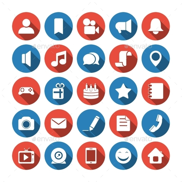 Social and Media Icons - Media Icons