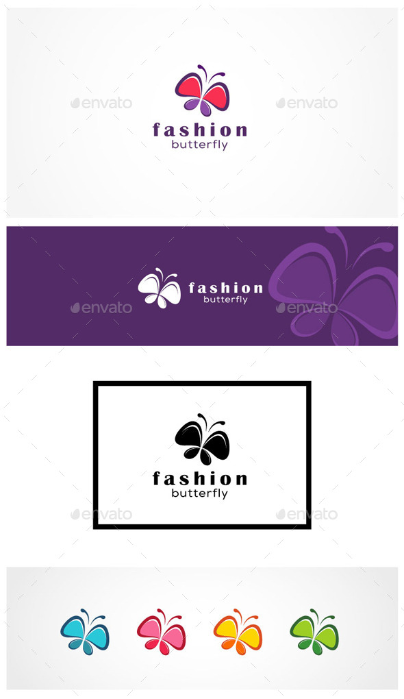 Fashion Butterfly - Animals Logo Templates