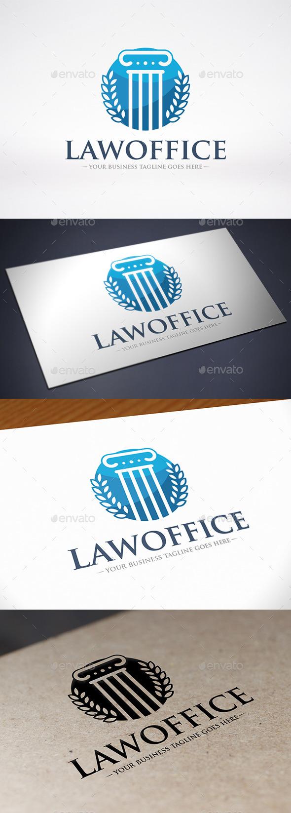 Law Firm Column Logo Template - Buildings Logo Templates