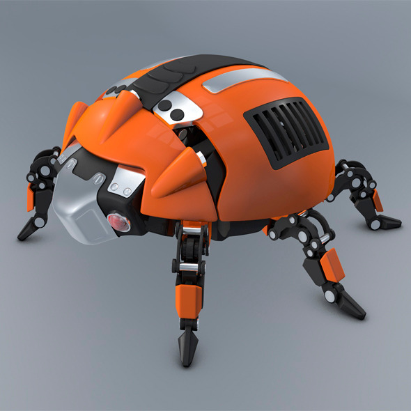 Beetle Ladybug robot - 3DOcean Item for Sale