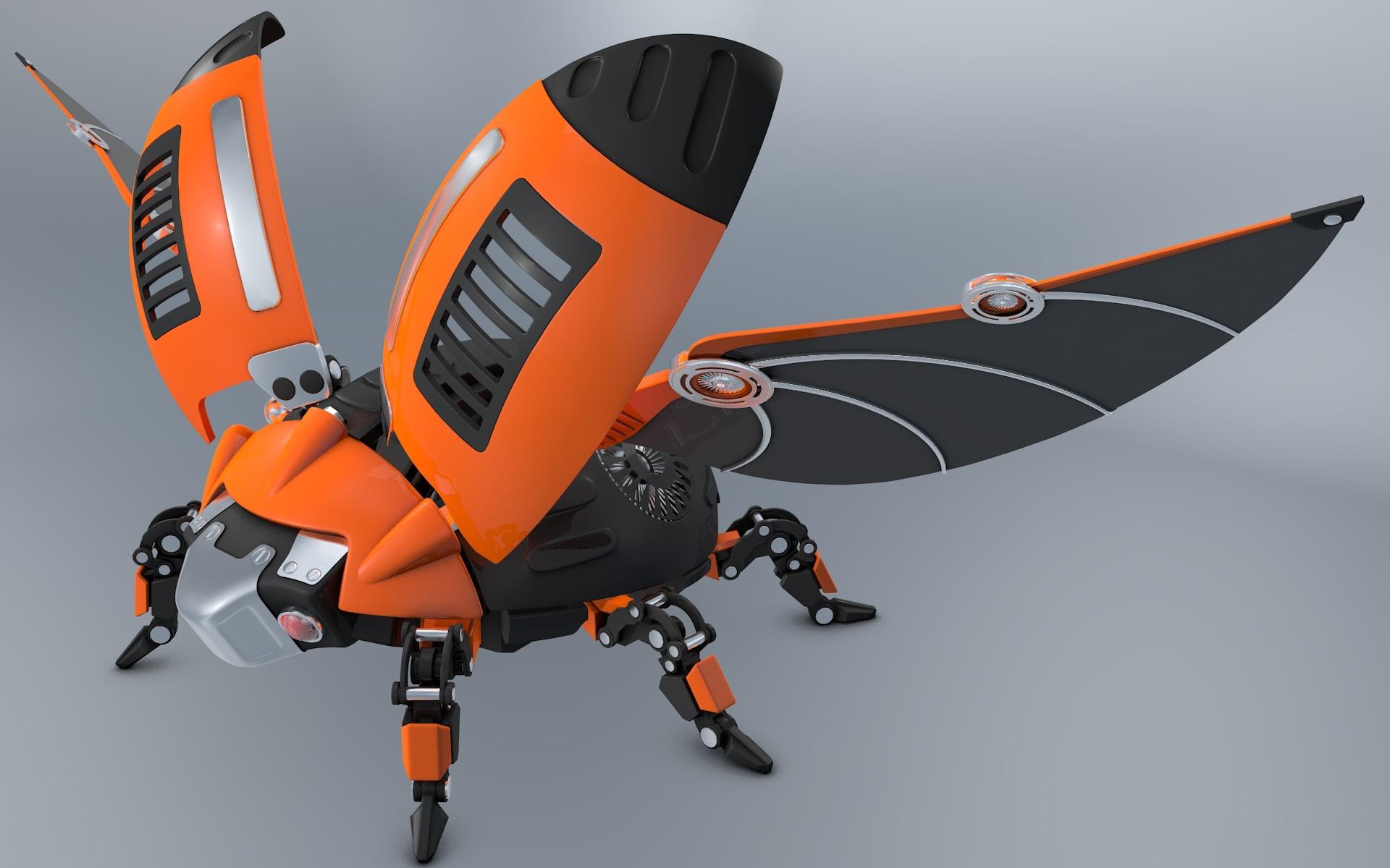 Beetle Ladybug Robot By Vladim00719 3docean