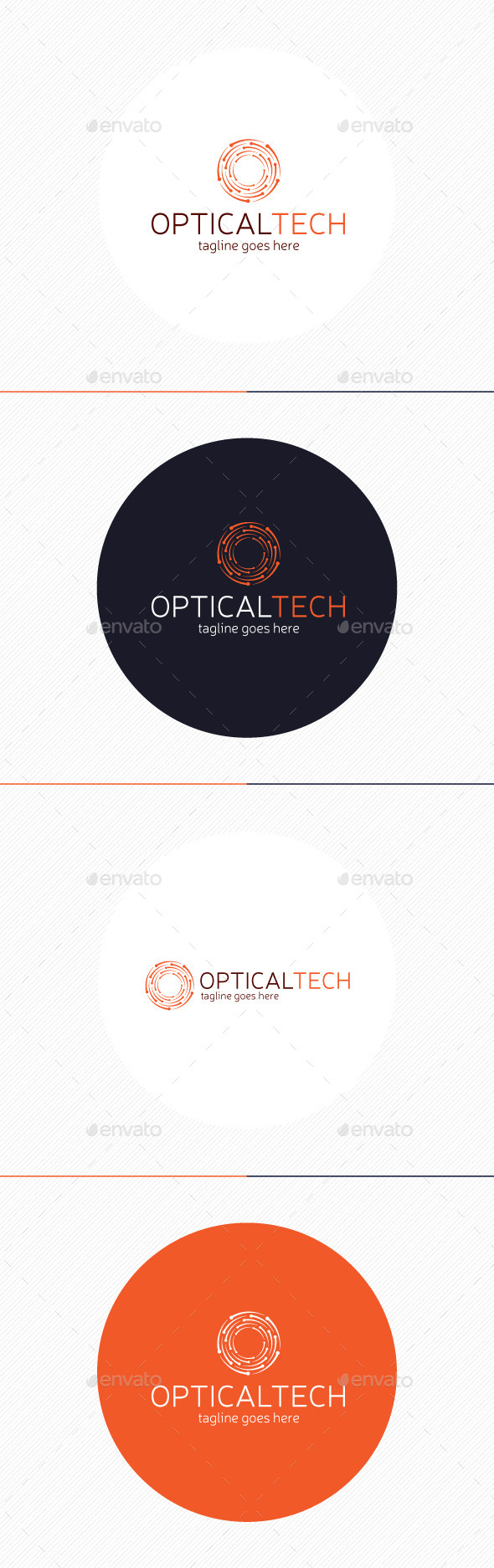 Optical Tech Logo — Letter O - Letters Logo Templates