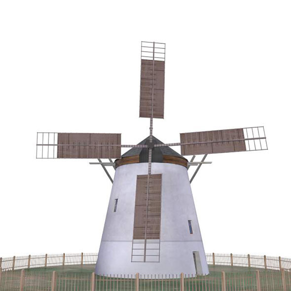 Windmill Retz Austria - Low Poly - 3DOcean Item for Sale