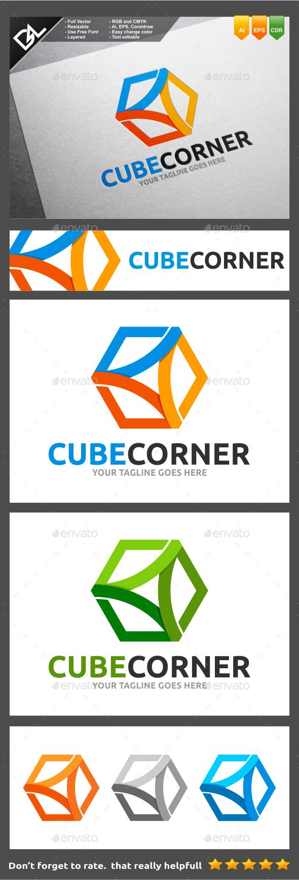 Cube Corner - Objects Logo Templates