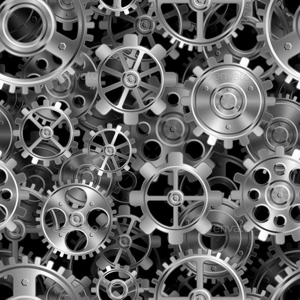 Metal Gears Pattern - Objects Vectors
