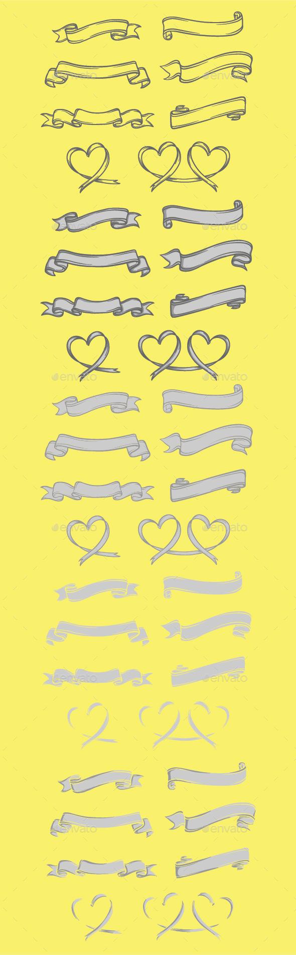 Ribbon Set Handmade - Decorative Symbols Decorative