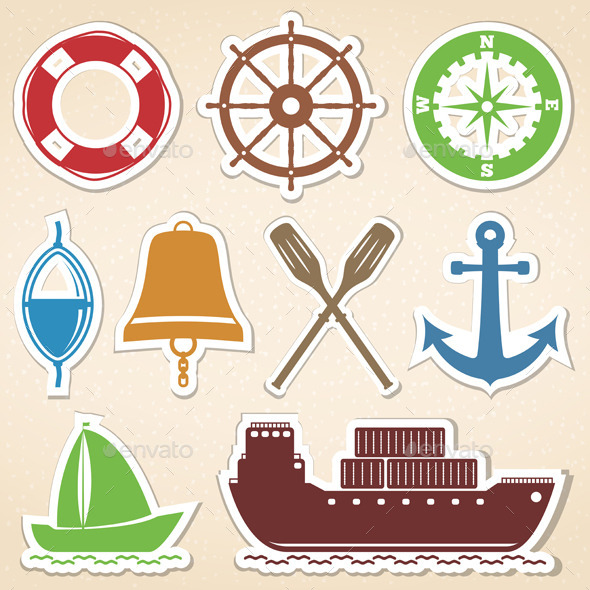 Nautical Icons - Miscellaneous Vectors