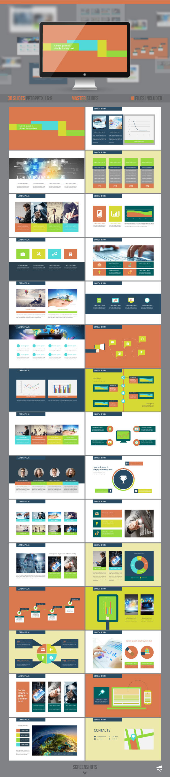 Geometric presentation - Business PowerPoint Templates