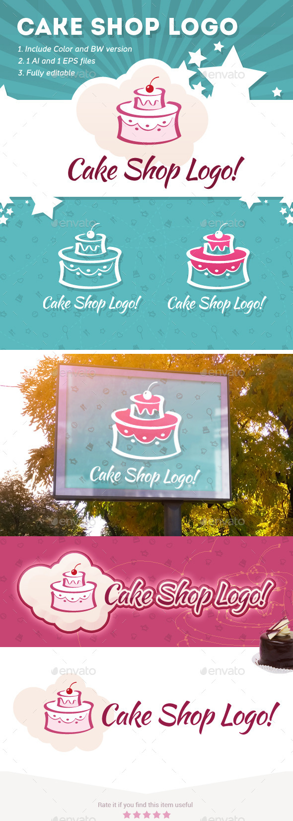 Cake Shop Logo - Food Logo Templates