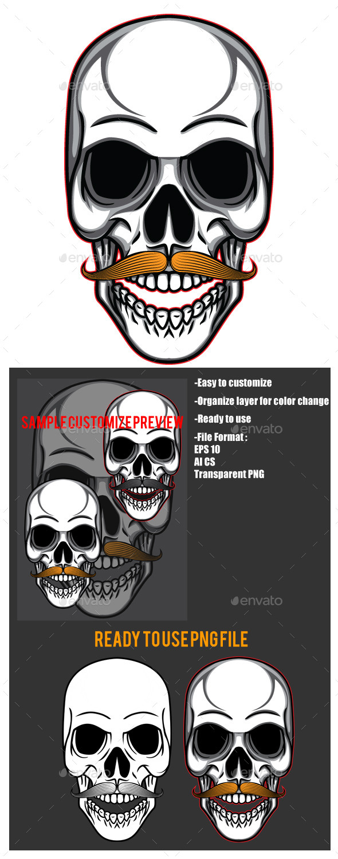 Skull Mustache  - Miscellaneous Seasons/Holidays