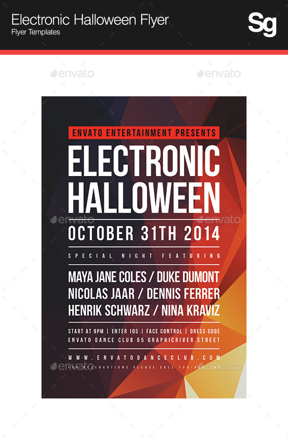 Electronic Halloween Flyer - Clubs & Parties Events