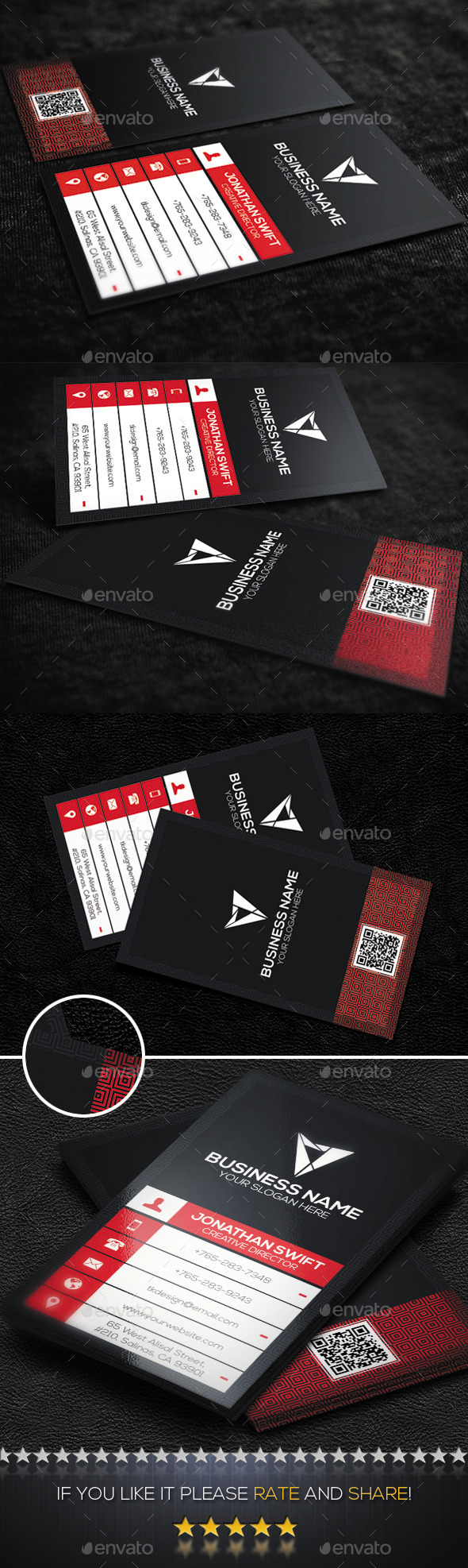 Corporate Business Card No.04 - Corporate Business Cards