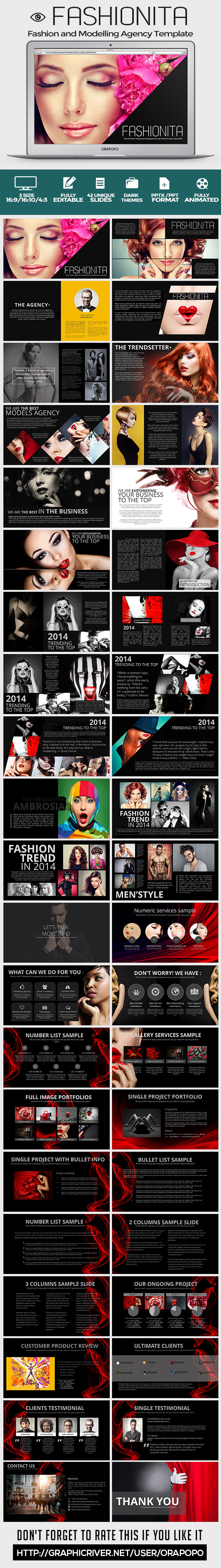 Fashionita Powerpoint Template - Creative PowerPoint Templates