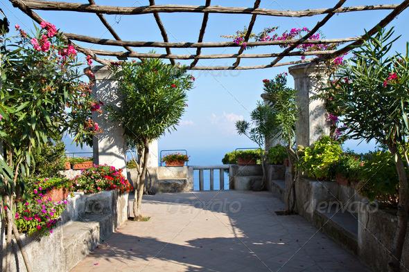 Mediterranean Garden at a villa in Ravello