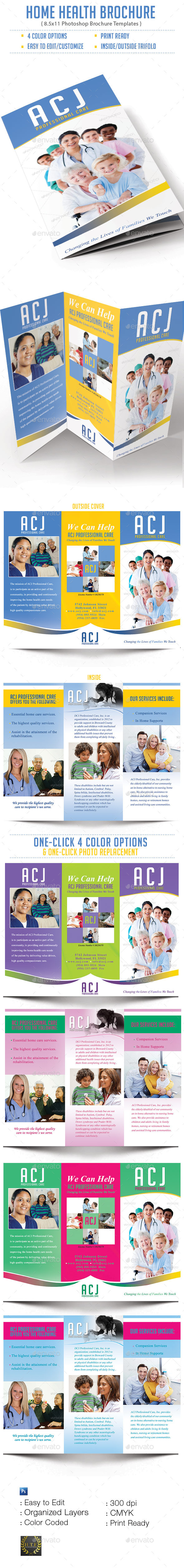 Home Health Brochure - Brochures Print Templates