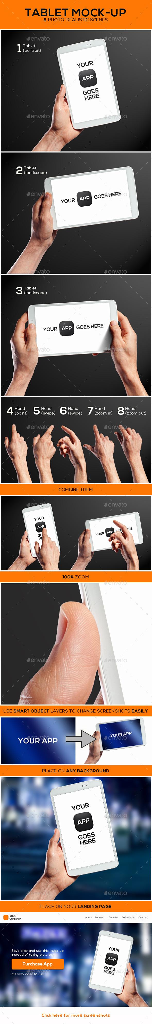 Tablet Mock-up - Mobile Displays
