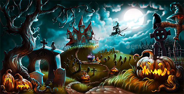 Halloween - Scenes Illustrations