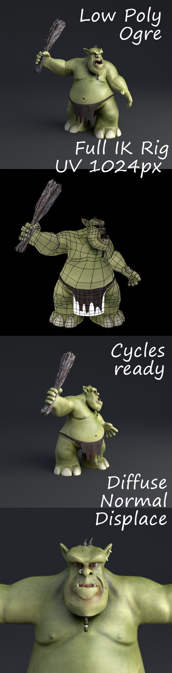 Ogre Rigged Lowpoly - 3DOcean Item for Sale