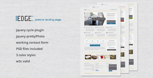 Edge Landing Page - Business Corporate