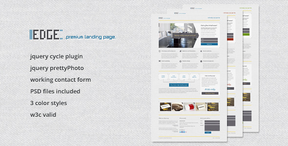 Free Download Edge Landing Page Nulled Latest Version