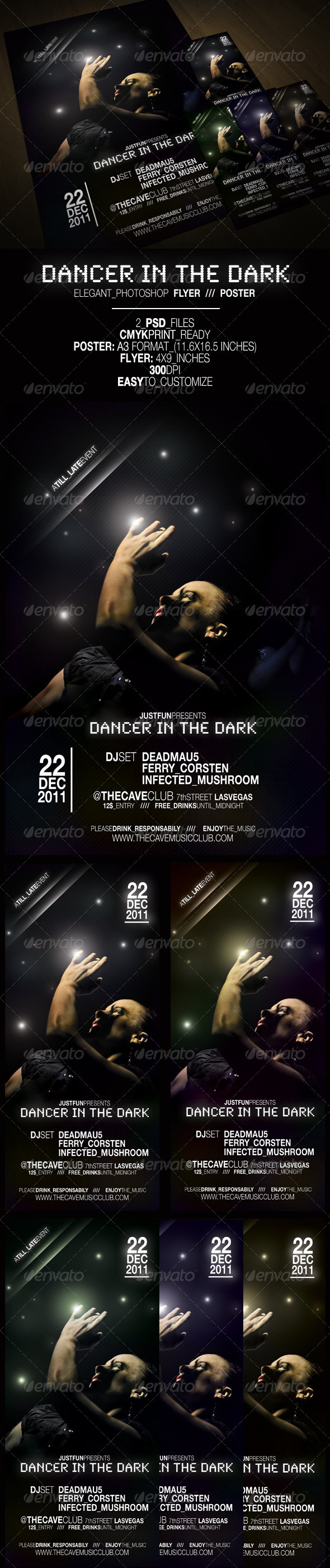 Dancer in the Dark - Poster & Flyer - Clubs & Parties Events