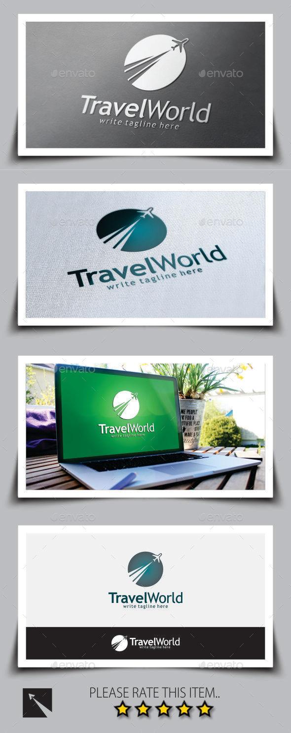 Travel World Logo Template - Objects Logo Templates