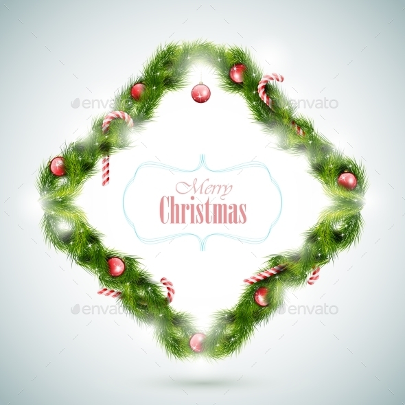 Greeting Card with Christmas Attributes - Christmas Seasons/Holidays
