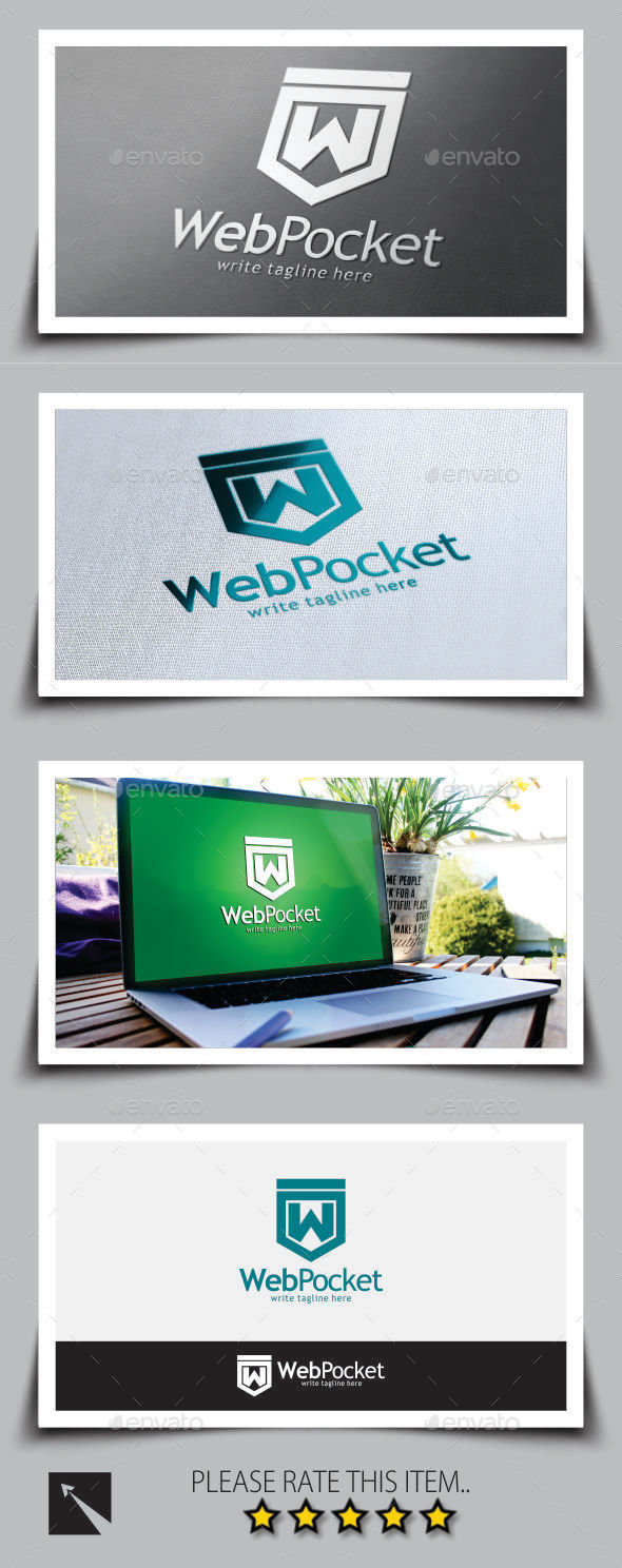 Web Pocket Logo Template - Letters Logo Templates