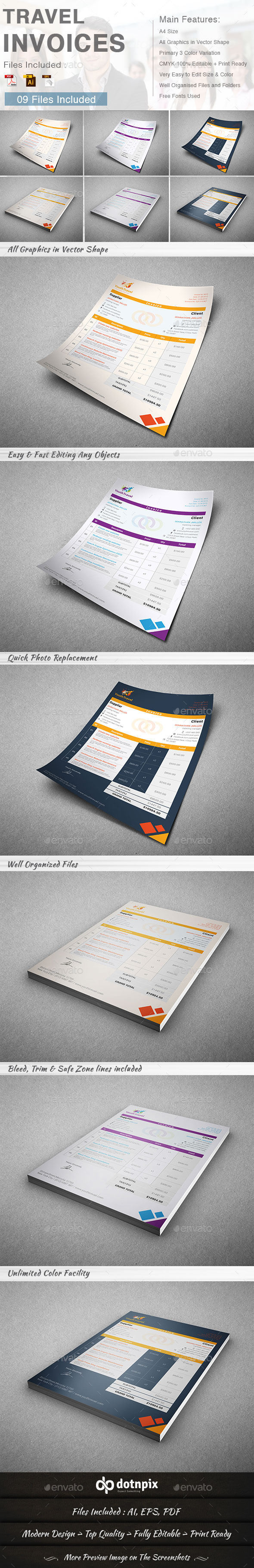 Travel Invoice - Proposals & Invoices Stationery