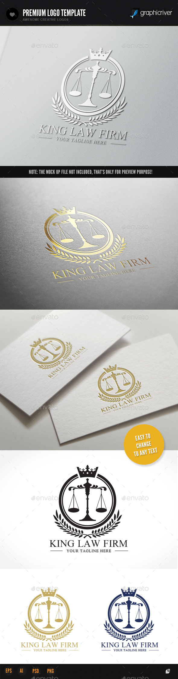 King Law Firm - Crests Logo Templates