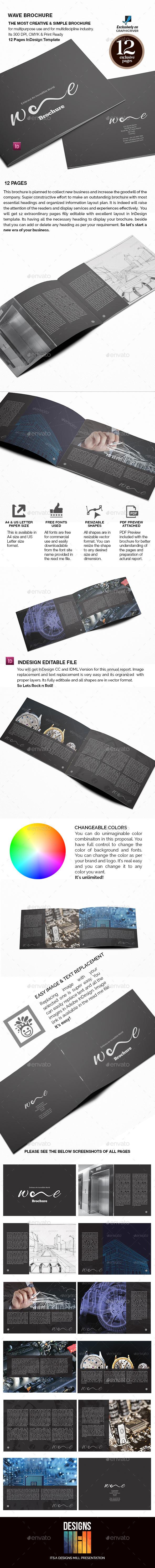 Wave Landscape Brochure - Informational Brochures