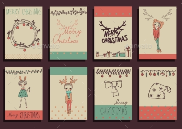 Vector Set Christmas Calligraphic Design Elements - Christmas Seasons/Holidays