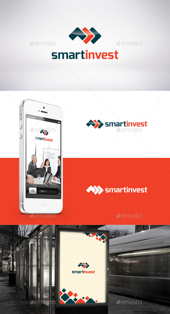 Smart Invest Logo Template  - Symbols Logo Templates