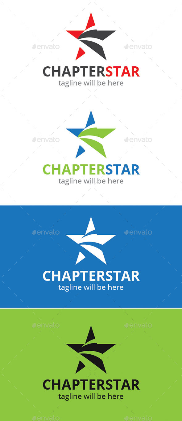 Chapter Star Logo - Logo Templates