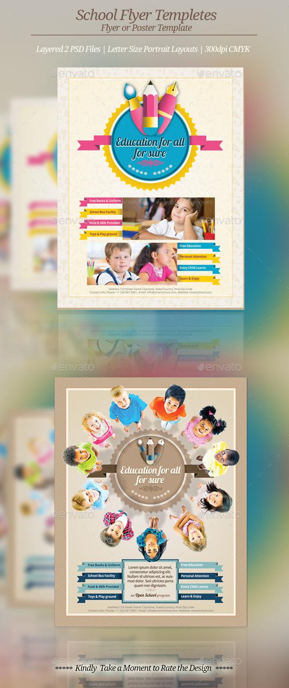 School Flyer Templates - Flyers Print Templates