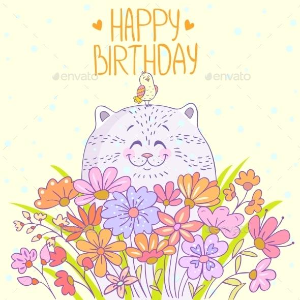 Cat Happy Birthday - Birthdays Seasons/Holidays