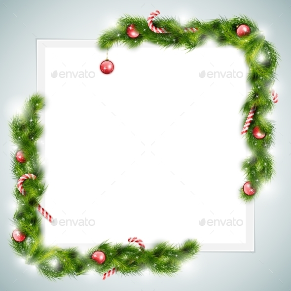 Blank Sheet of Paper With Christmas Attributes. - Christmas Seasons/Holidays