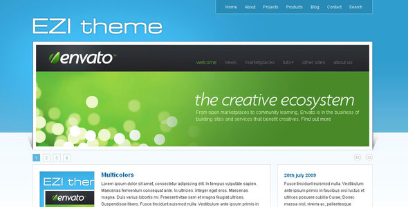 EZI theme - Corporate Site Templates