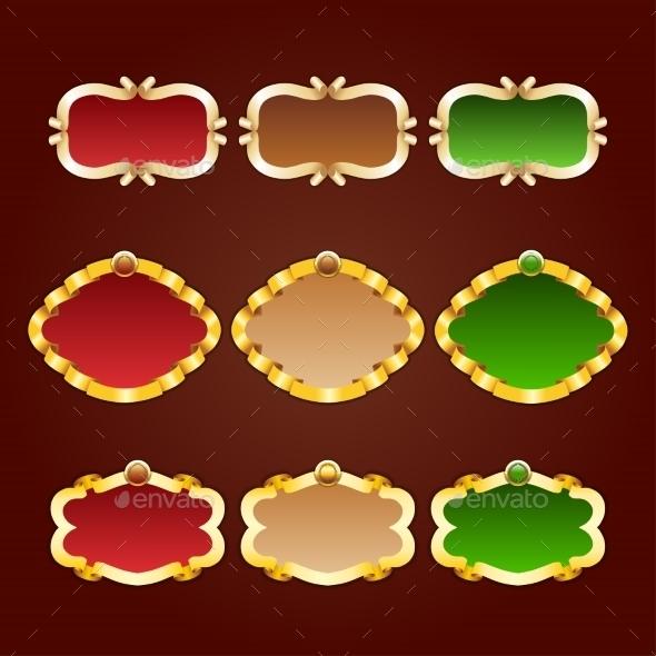 Vector Set of Template Frames - Backgrounds Decorative