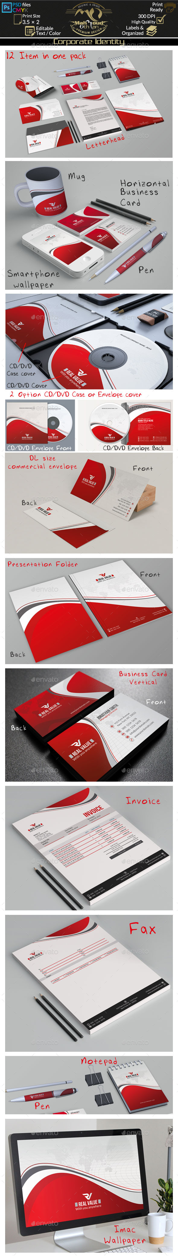 Red Corporate Identity - Stationery Print Templates