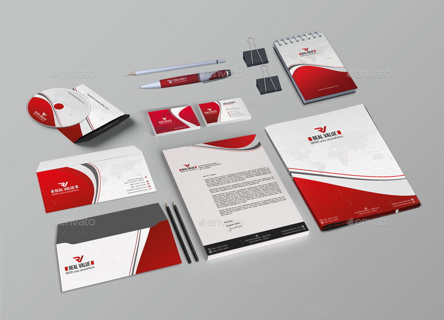 red corporate identityfar_star60 | graphicriver, Presentation templates