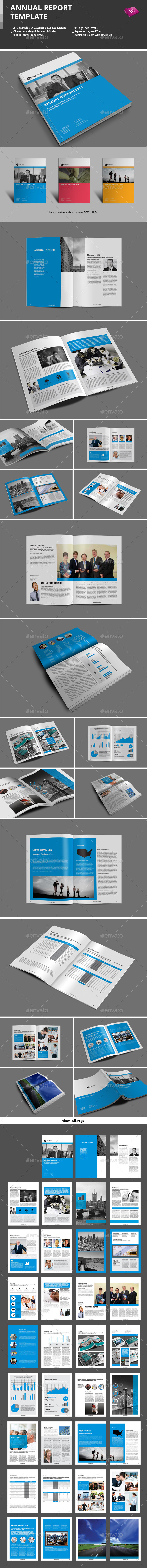 Annual Report Template - Informational Brochures