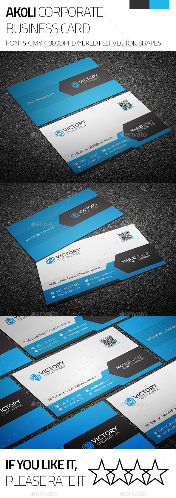 Akoli & Creative Business Card - Corporate Business Cards