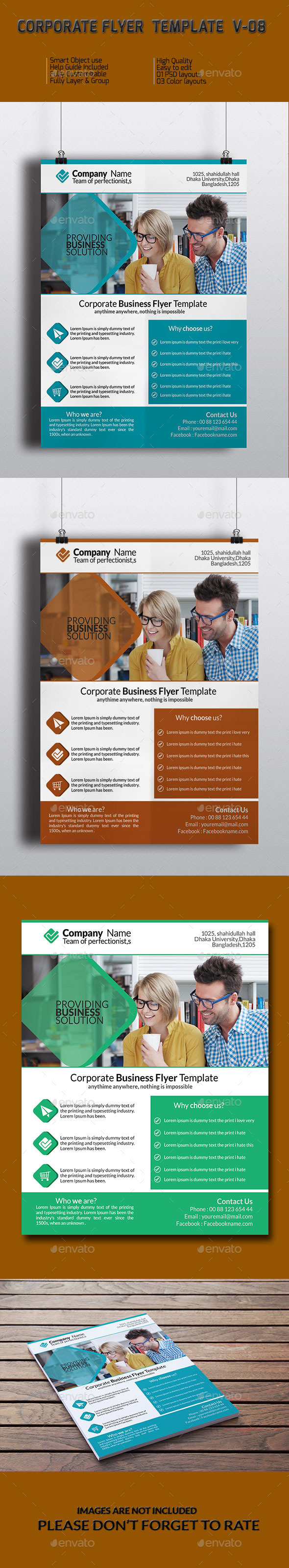 Corporate Business Flyer Template V-08 - Corporate Flyers