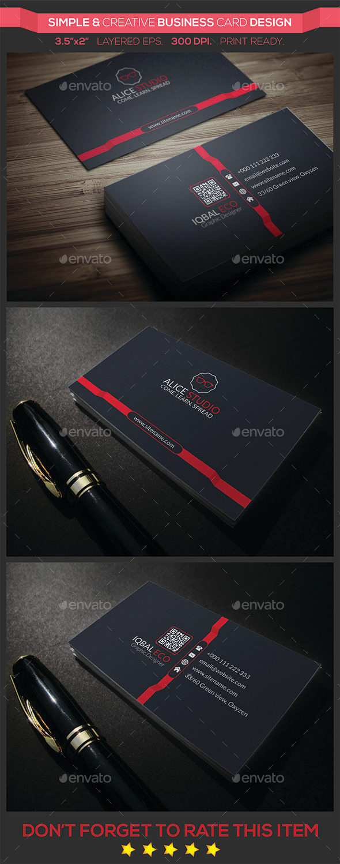 Simple & Creative Business Card Design - Creative Business Cards