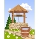 Old Wooden Well and Bucket of Water - GraphicRiver Item for Sale